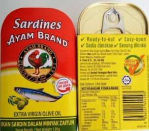 Ayam brand tinned sardines
