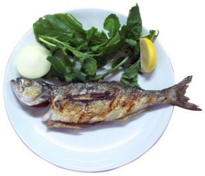 grilled oily fish