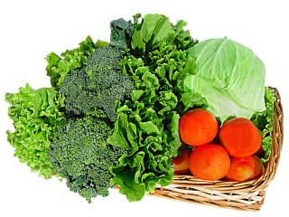 basket of LCHF vegetables on thrivelowcarb