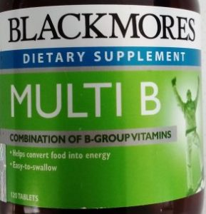 Blackmores vitamin B supplement on thrivelowcarb