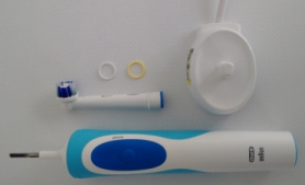 Oral B Vitality electric toothbrush on thrivelowcarb.com