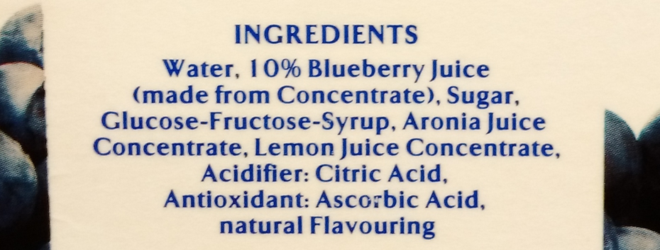 blueberry juice drink ingredients list at thrivelowcarb.com